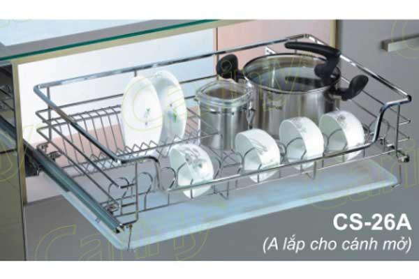 Kệ úp bát đĩa tủ dưới cariny cs26