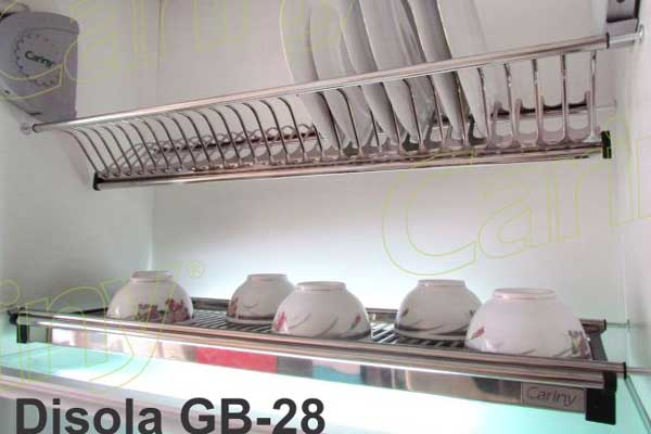 Kệ úp bát đĩa tủ trên cariny gb28