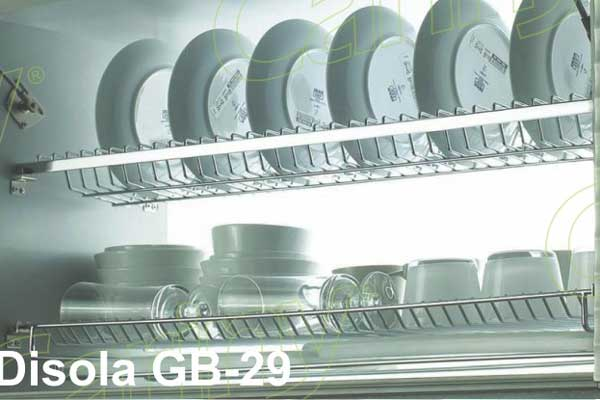 Kệ úp bát đĩa tủ trên cariny gb29