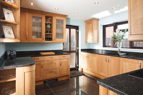 Tủ bếp gỗ Sồi số 23