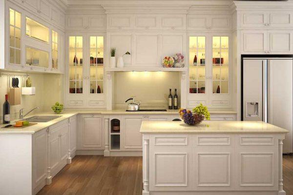 Tủ bếp gỗ Ash số 19