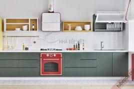 Thiết kế và thi công tủ bếp gỗ ash giá rẻ uy tín