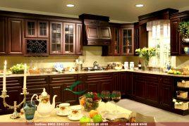 20 mẫu Tủ Bếp Gỗ Căm Xe giá rẻ đẹp nhất 2108