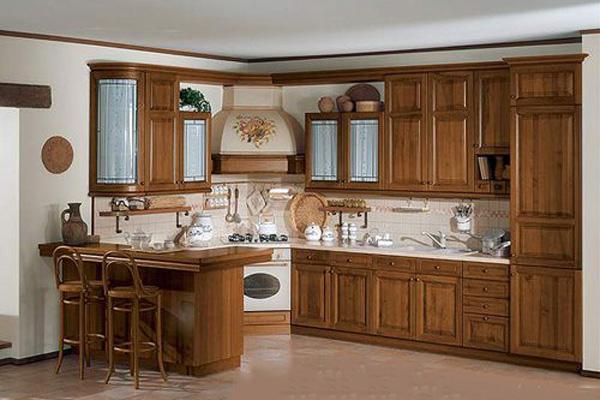 Tủ bếp được làm từ gỗ Hương