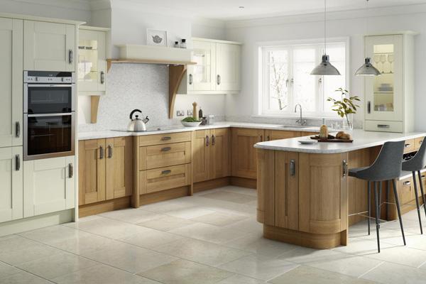 Tủ bếp gỗ sồi số 25
