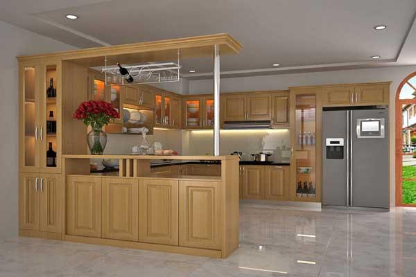 Tủ bếp gỗ Sồi số 27