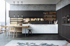 Thiết kế và thi công tủ bếp laminate giá rẻ uy tín