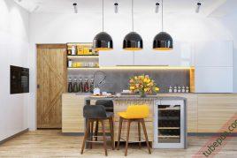 Thiết kế và thi công tủ bếp mdf An Cường giá rẻ uy tín