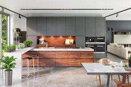 Thiết kế và thi công tủ bếp tân cổ điển giá rẻ uy tín