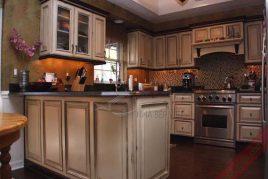 Thiết kế và thi công tủ bếp gỗ dổi giá rẻ uy tín