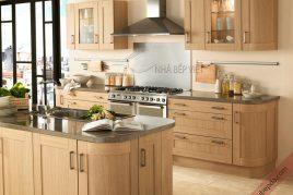 Xưởng sản xuất các loại tủ bếp gỗ dổi đẹp chất lượng