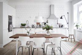 Thiết kế và thi công tủ bếp gỗ gõ đỏ giá rẻ uy tín