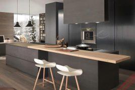 Thiết kế và thi công tủ bếp gỗ hương giá rẻ uy tín