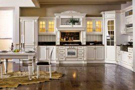 Mẫu tủ bếp cổ điển phong cách châu Âu cho biệt thự