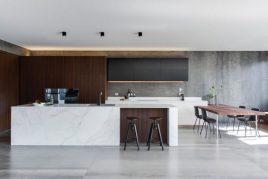 Tủ bếp đá kiến tạo không gian bếp sang trọng và đẳng cấp