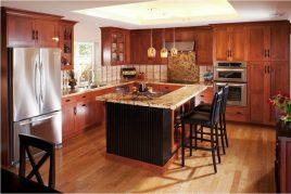 10 Mẫu tủ bếp gỗ tự nhiên được yêu thích nhất 2020