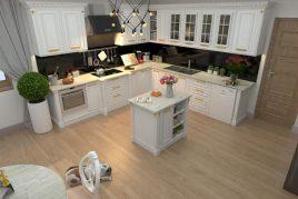 Mẫu tủ bếp gỗ tự nhiên dành cho bà nội trợ cá tính