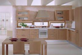 Tủ bếp gỗ Veneer Sồi sang trọng
