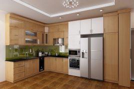 Thiết kế và thi công tủ bếp gỗ tự nhiên Giá rẻ tại HCM