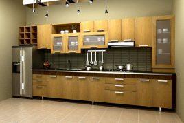 Tủ bếp chữ i hiện đại, đơn giản cho căn bếp
