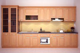 Lắp đặt tủ bếp gỗ có tốt không?