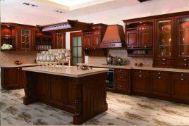 Mẫu tủ bếp gỗ gõ đỏ đẹp đẳng cấp | Nội thất Nhà Bếp Việt