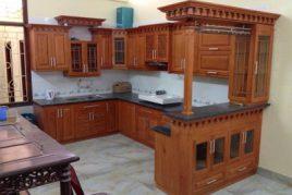 Tủ bếp gỗ sồi Mỹ tại TPHCM