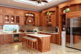 Tủ bếp gỗ Gõ Đỏ | Nhà Bếp Việt