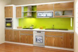Ưu điểm vượt trội của tủ bếp gỗ nhựa