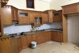 Tủ bếp gỗ sồi Mỹ bền đẹp