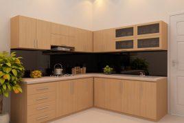 Thiết kế thi công tủ bếp gỗ công nghiệp Melamine