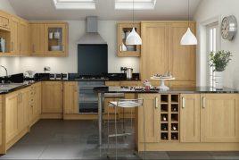 Tủ bếp gỗ sồi nét đẹp hút hồn người nhìn