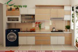 Mẫu tủ bếp gỗ tự nhiên đẹp được bình chọn 5* năm 2020