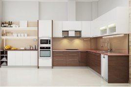5 Mẫu Tủ Bếp Acrylic Bóng Gương Đẹp Hoàn Hảo 2020