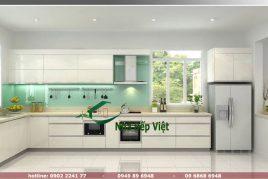 Tủ bếp Acrylic hiện đại, đẳng cấp chất lượng cao