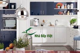 Mẫu tủ bếp Acrylic nhập khẩu đẹp